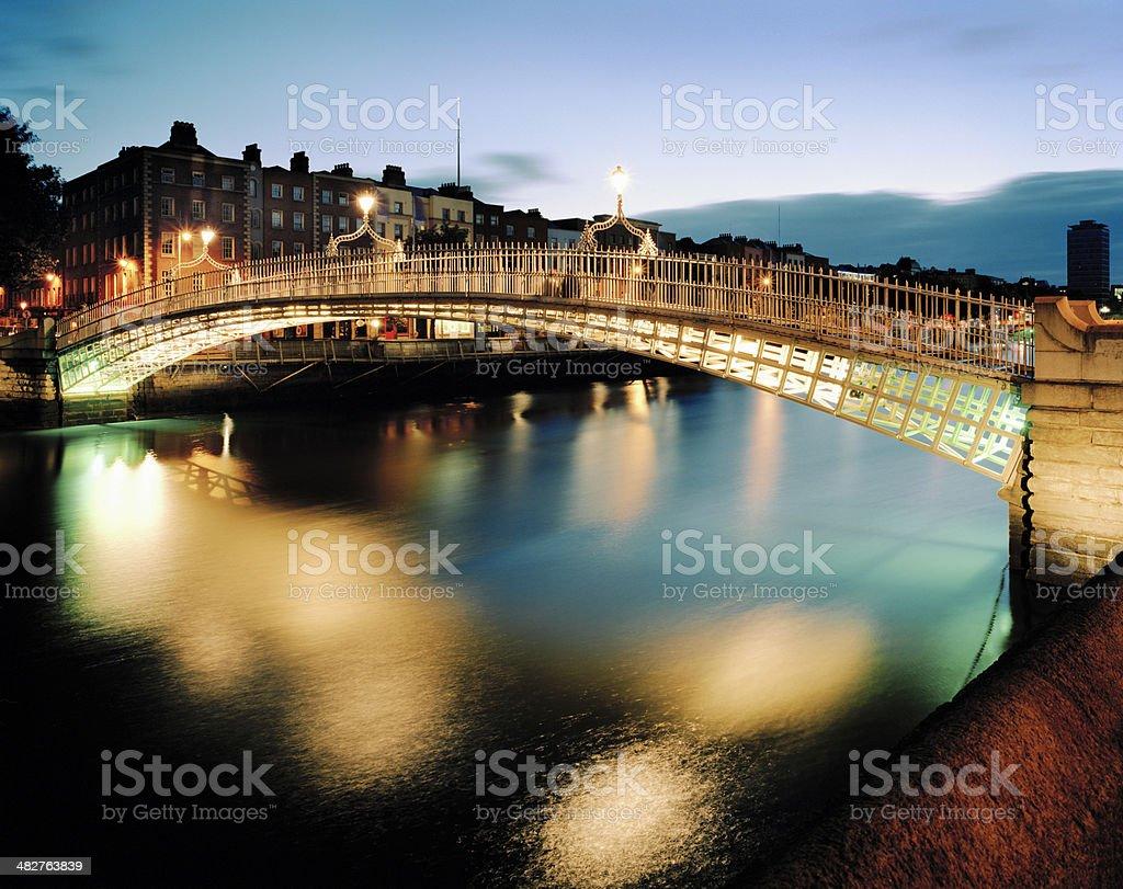 Ha'penny Bridge, Dublin royalty-free stock photo