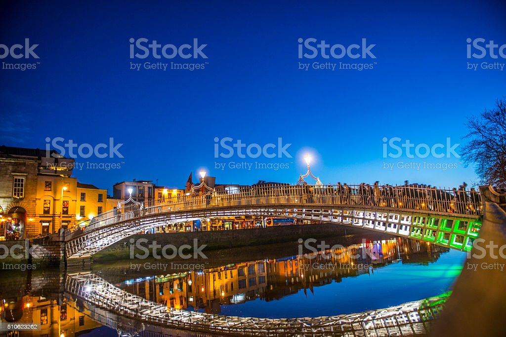 Ha'penny Bridge Dublin stock photo