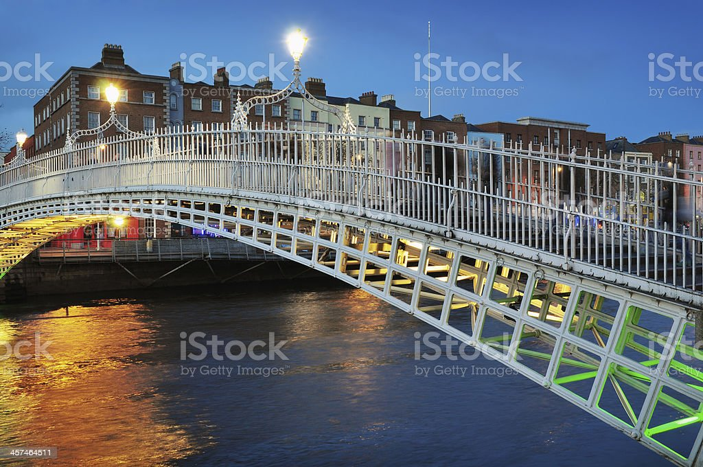 Ha'penny Bridge in Dublin stock photo