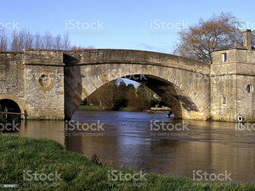 Ha'Penny Bridge on River Thames. Lechlade, Gloucestershire, England royalty-free stock photo