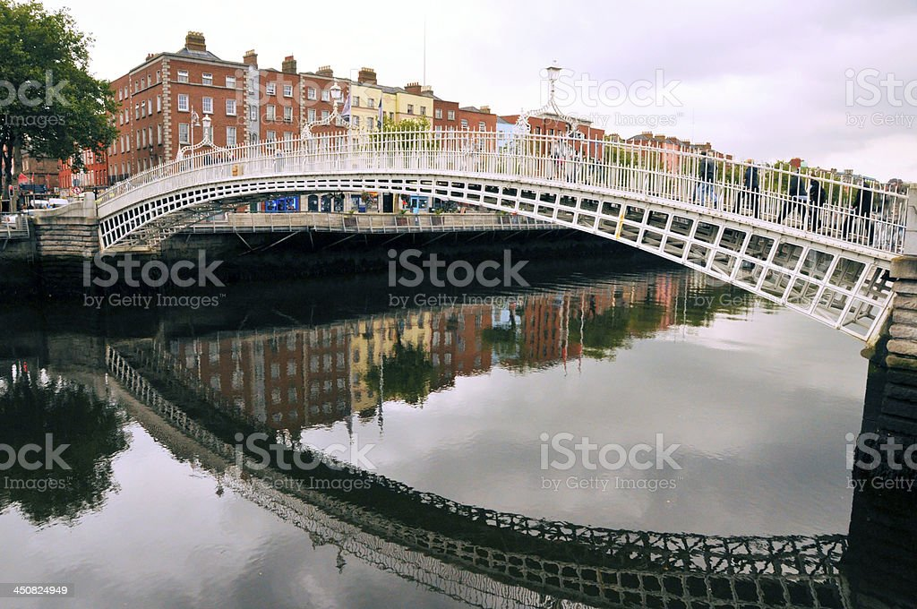Ha'penny Bridge or Liffey stock photo