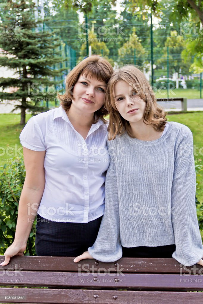 Happiest mother and daughter fourteen years old – zdjęcie
