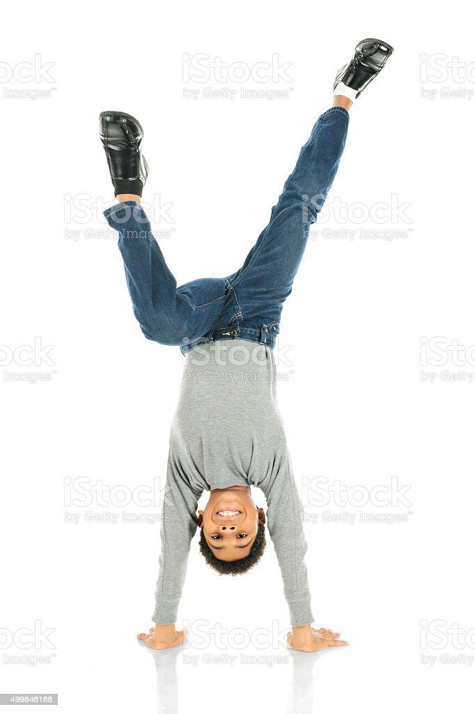 Happiest Upside Down stock photo