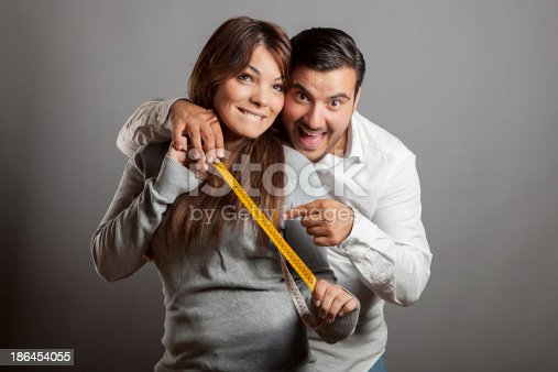 istock Happiness and boldness couple showing off sex length 186454055