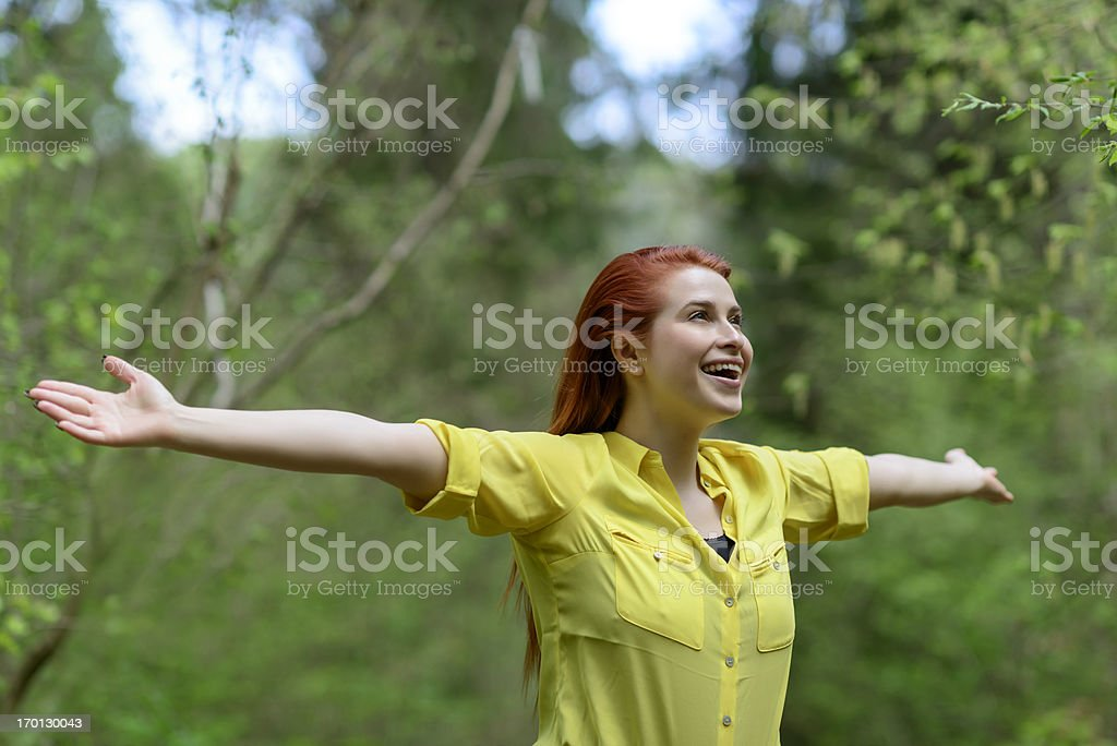 happiness and freedom royalty-free stock photo