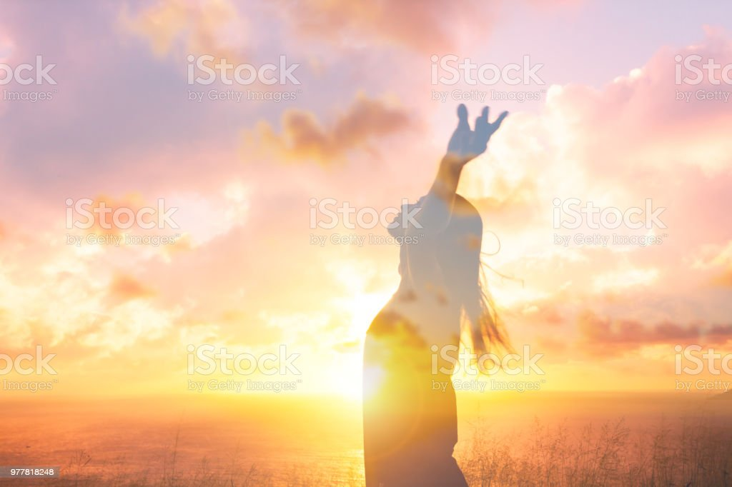 Happiness and freedom stock photo