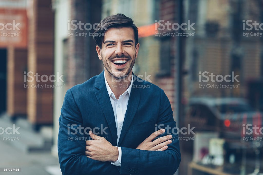 Happiness and satisfaction stock photo