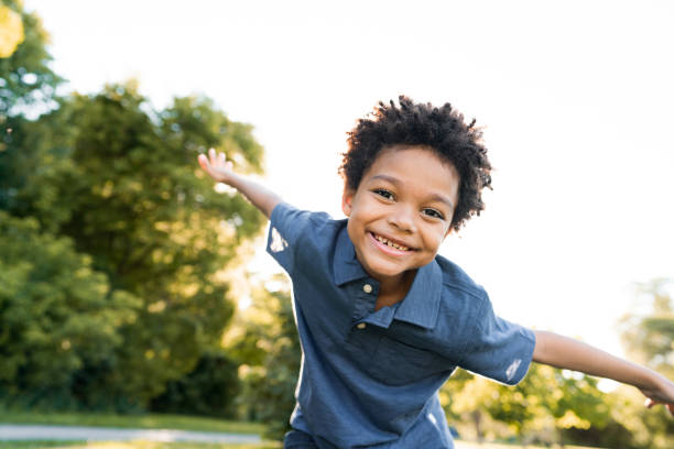 Happiness and wellbeing stock photo