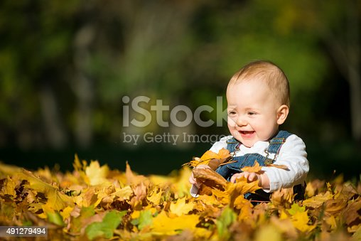 istock Happiness - baby in nature 491279494