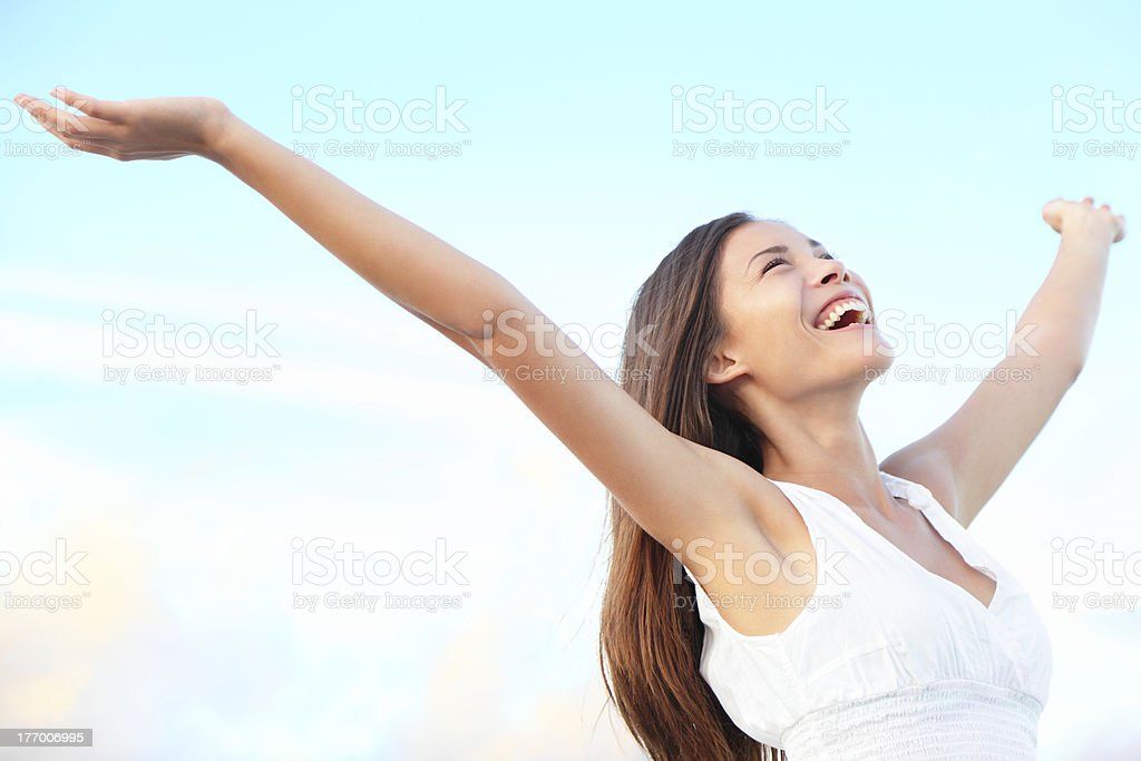 Happiness bliss stock photo