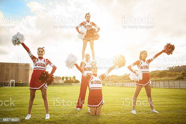 Happiness cheerleaders posing with ponpon picture id483718031?b=1&k=6&m=483718031&s=612x612&h=qj64msjdukajwgxp16dkrrpnegfov3e74eqdeyd4jqi=