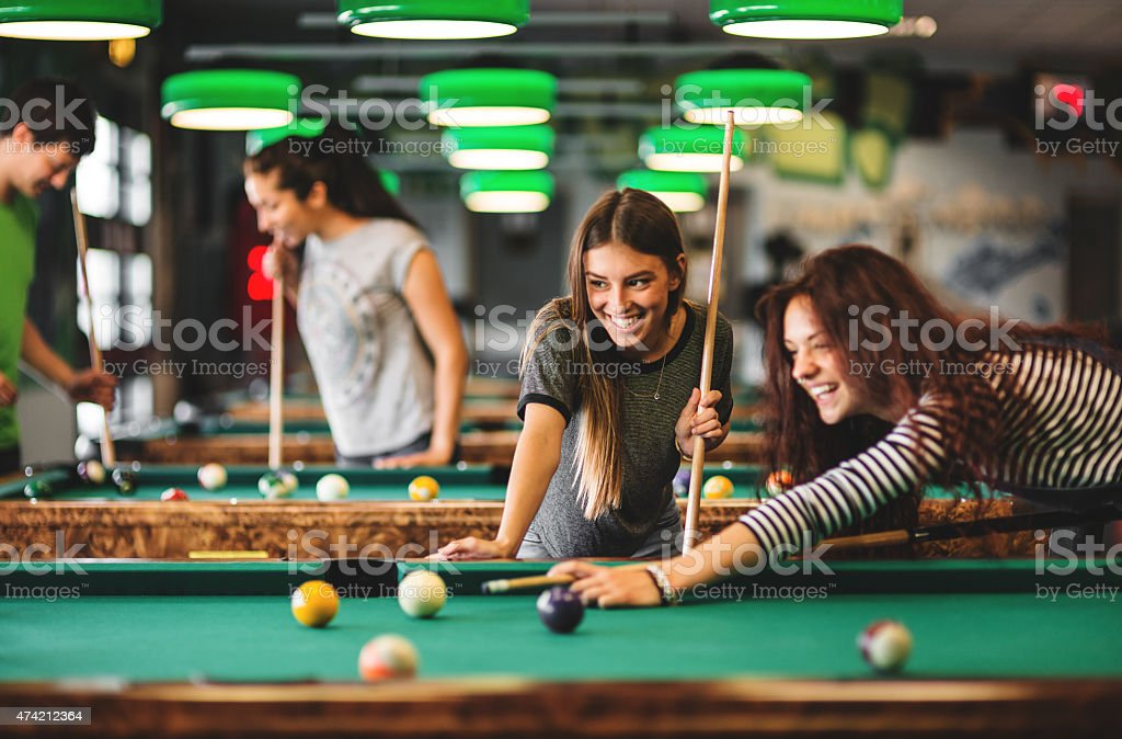 Happiness friends in a pub stock photo
