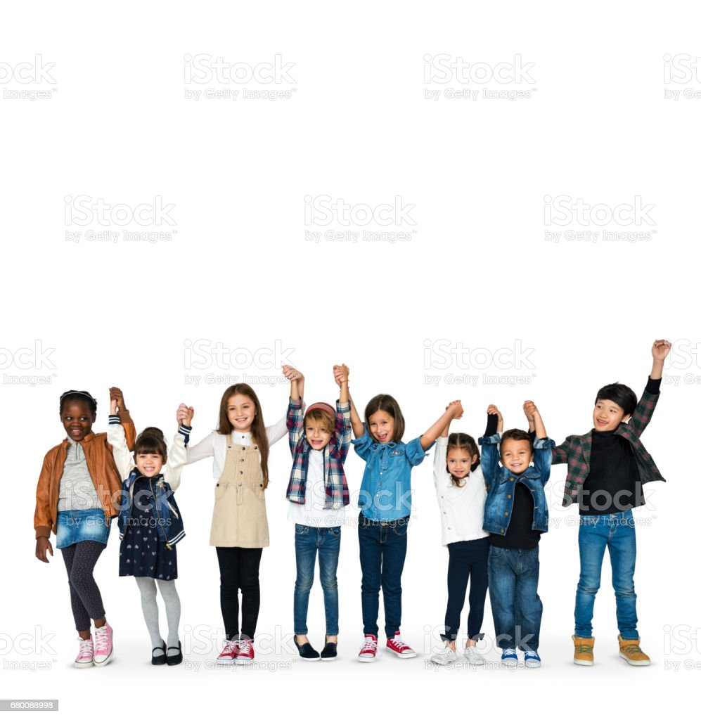 Happiness group of cute and adorable children stock photo