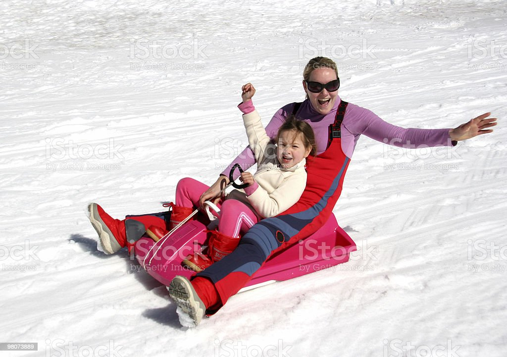 Happiness in a Sleigh royalty-free stock photo