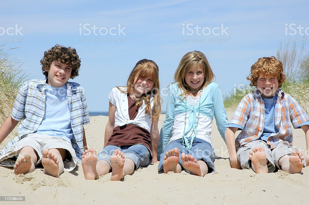 Happiness is Barefeet royalty-free stock photo