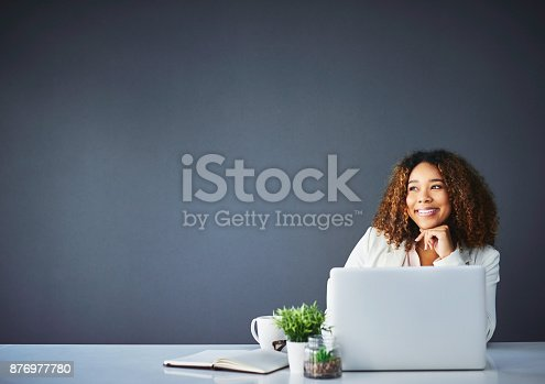 istock Happiness is loving your job 876977780