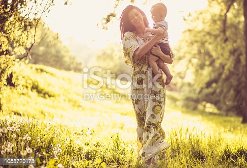 525959168 istock photo Happiness is the time spent with children. 1058720178