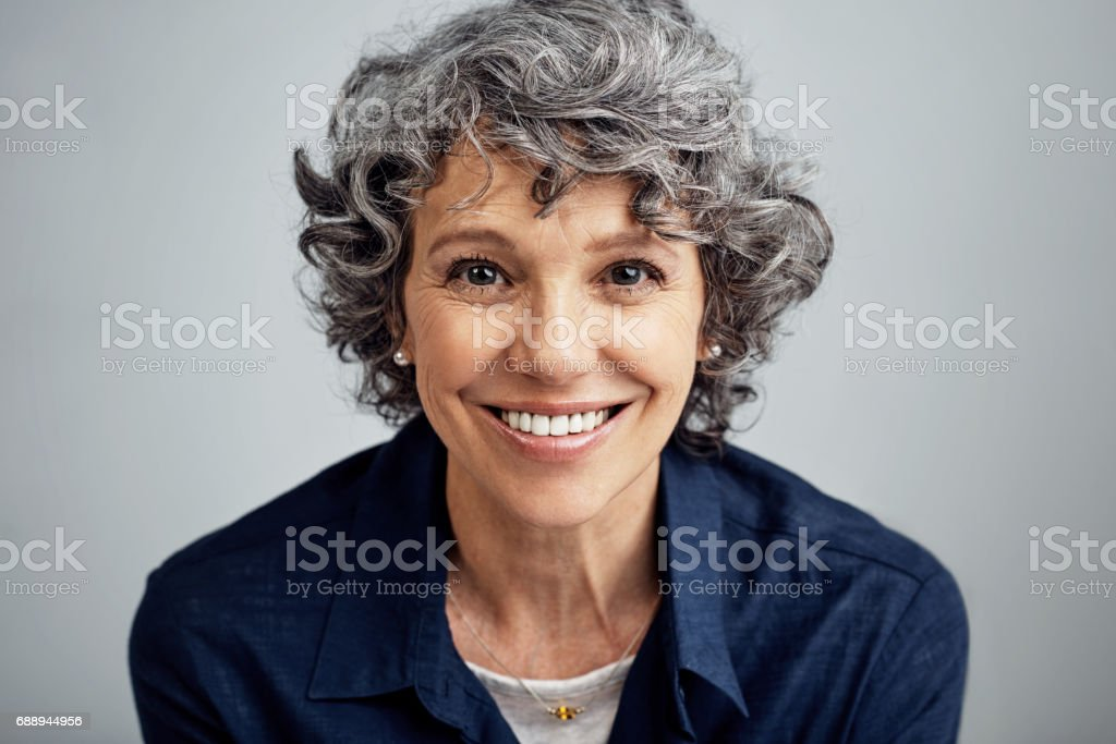 Happiness keeps the heart young stock photo