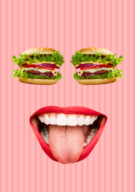 Happiness. Modern design. Contemporary art collage. stock photo