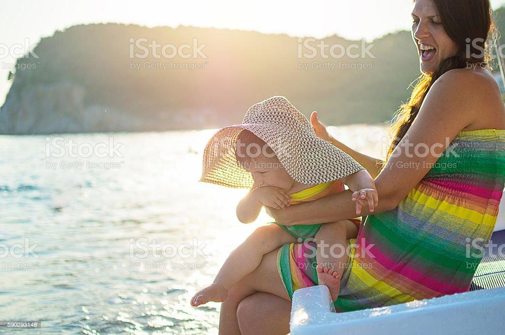 Happiness on beach royaltyfri bildbanksbilder