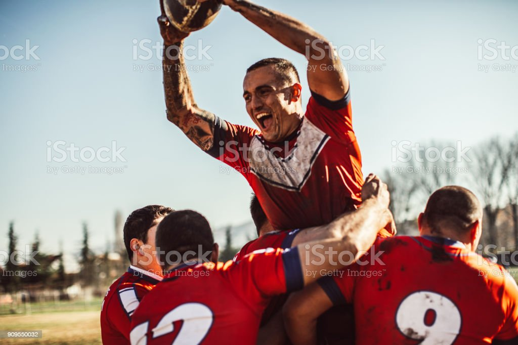 Happiness on field stock photo