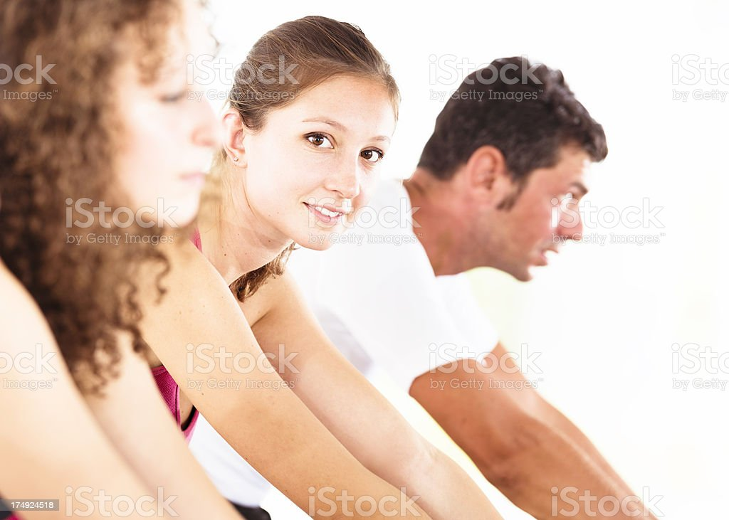 Happiness people on spinning royalty-free stock photo