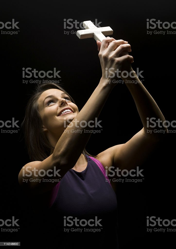 Happiness with  Jesus royalty-free stock photo