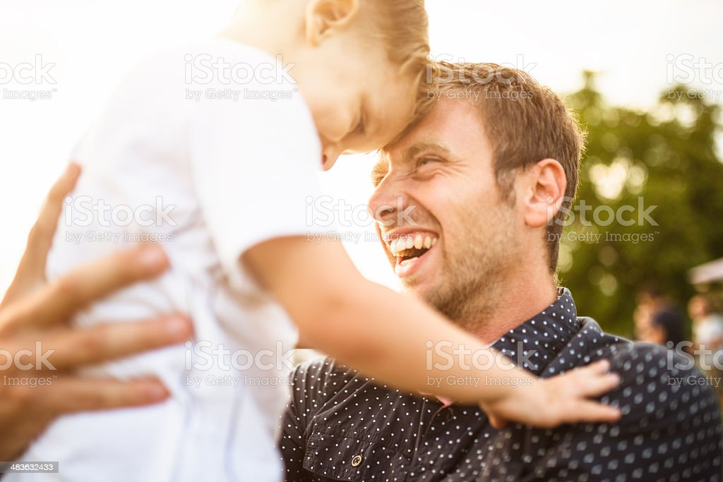 happiness young father with his son have fun royalty-free stock photo