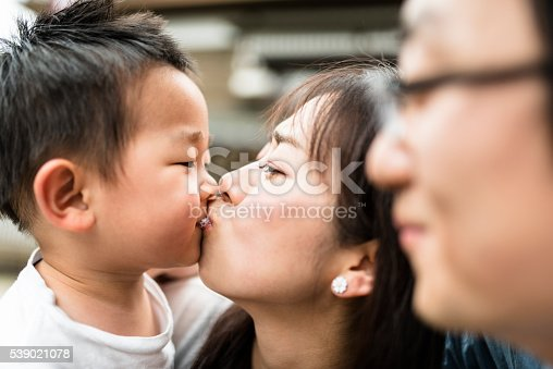 istock happiness young mother with his son have fun 539021078