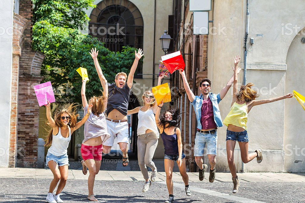 Happiness young people stock photo