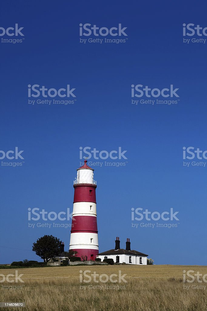 Happisburgh lighthouse royalty-free stock photo