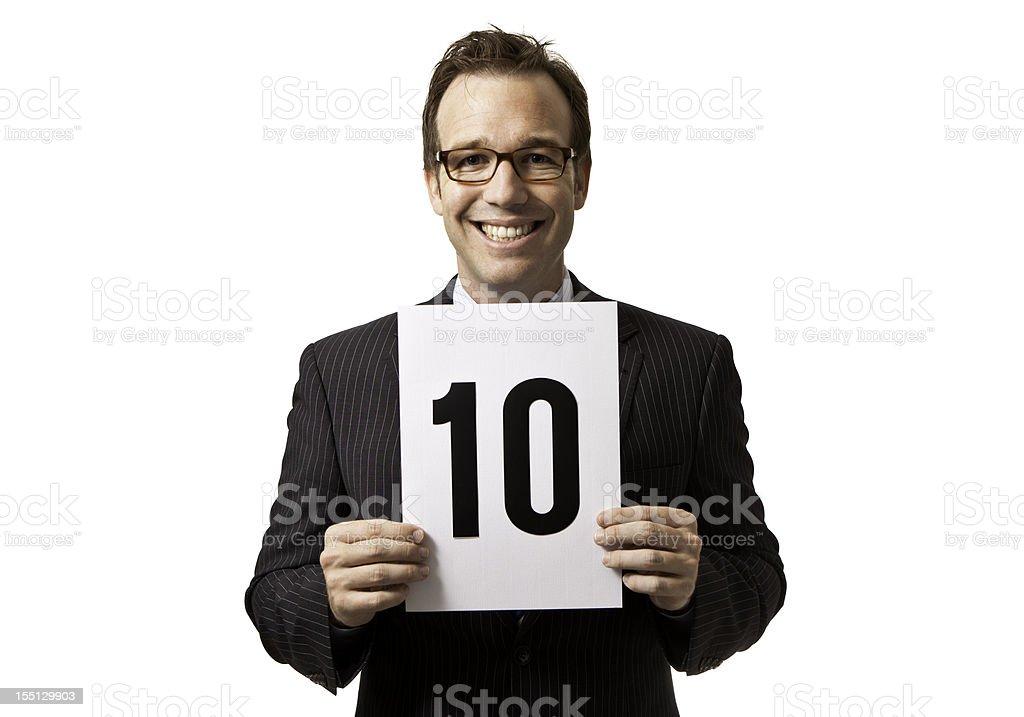 Happy 10 royalty-free stock photo