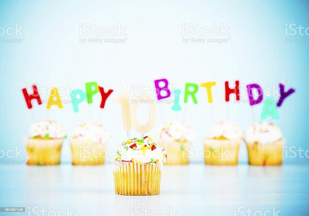 Happy 10th Birthday stock photo
