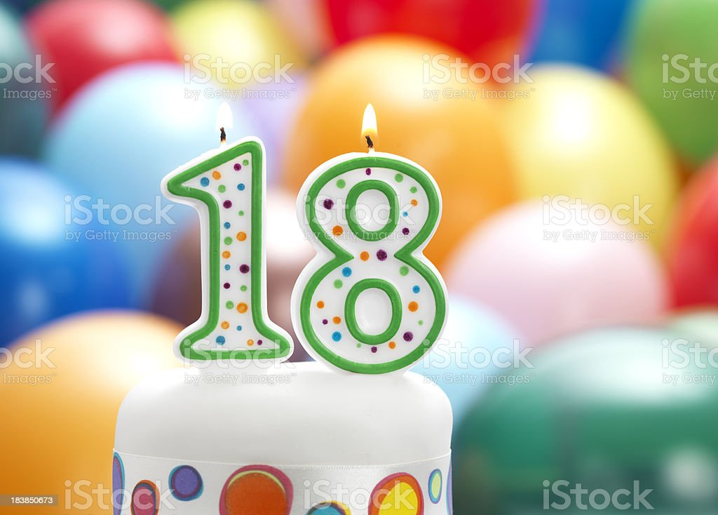 happy 18th birthday stock photo