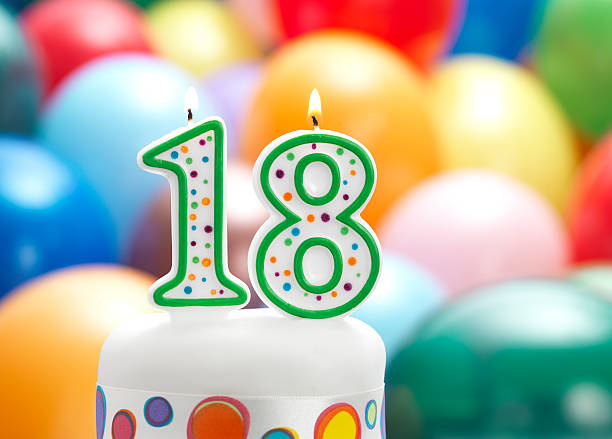 happy 18th birthday - number 18 stock photos and pictures