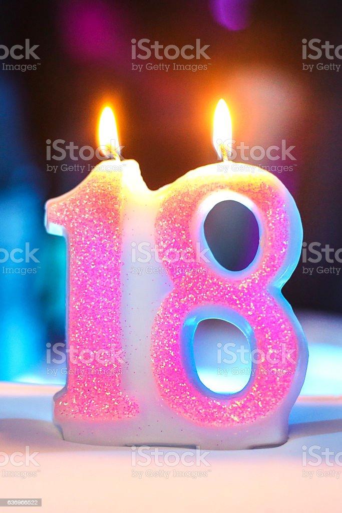 Happy 18th Birthday Lizenzfreies Stock Foto