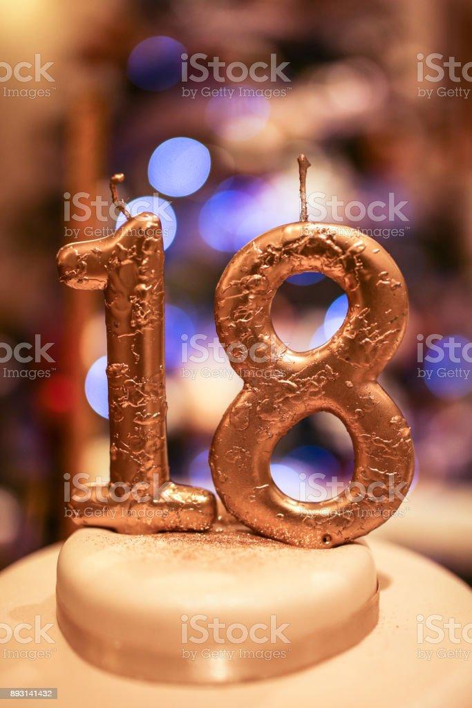 Happy 18th birthday stock photo