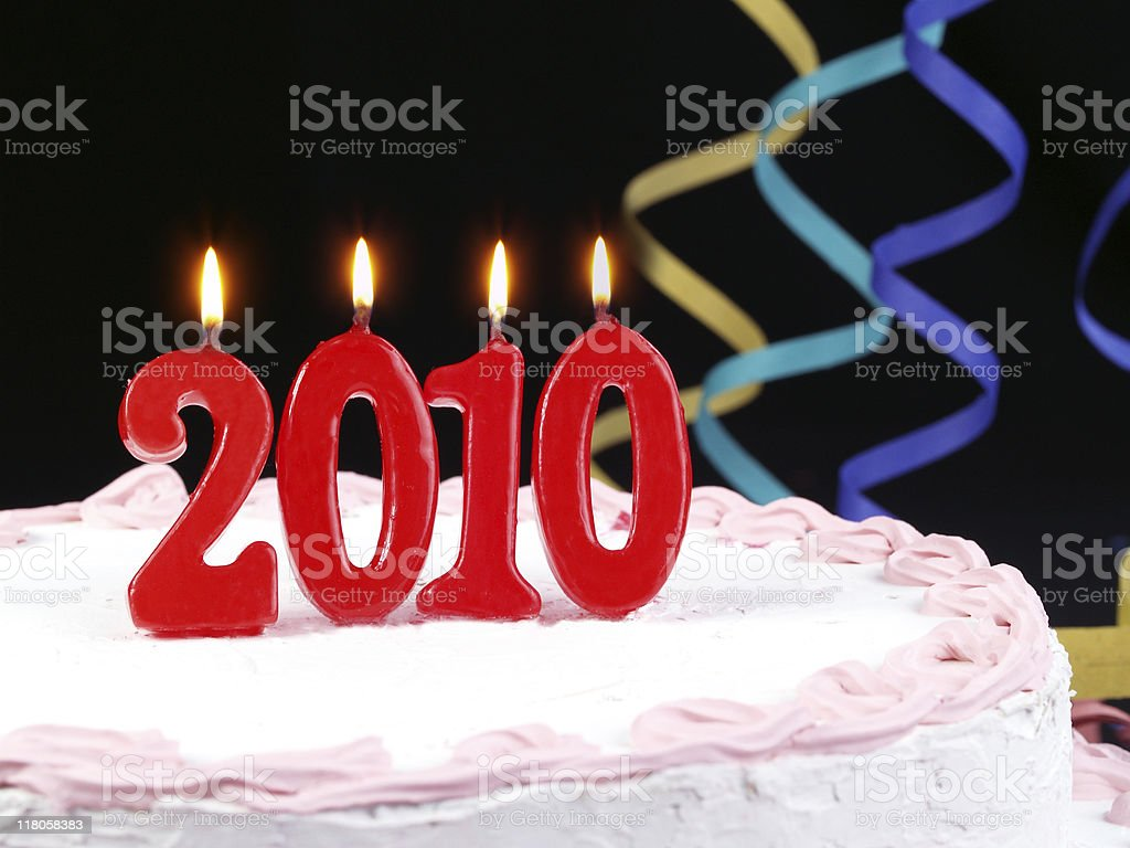 Happy 2010 royalty-free stock photo