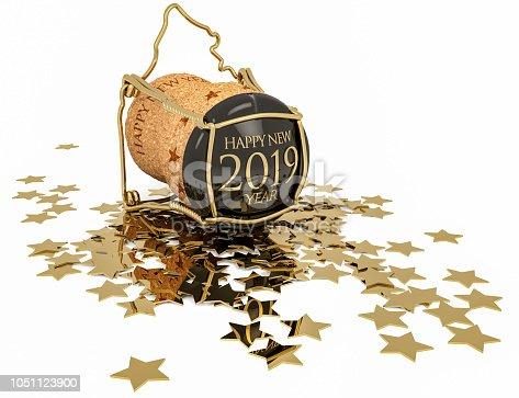 istock happy 2019 champagne stopper 1051123900