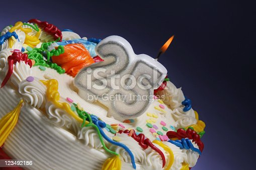 istock Happy 25th anniversary or birthday 123492186