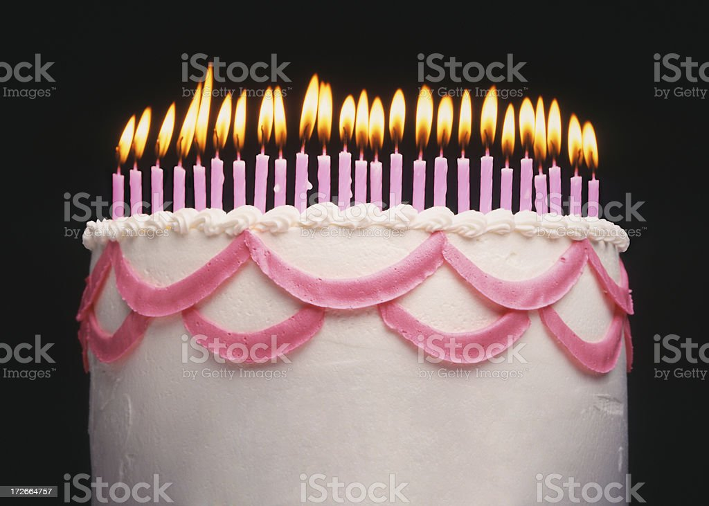 Happy 25th stock photo