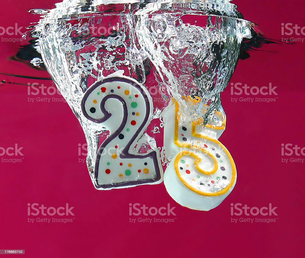 Happy 25th (Pink) stock photo