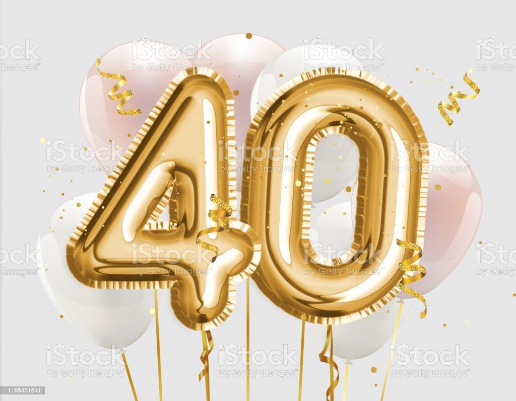 """/""""40th/"""" Foil balloon"""