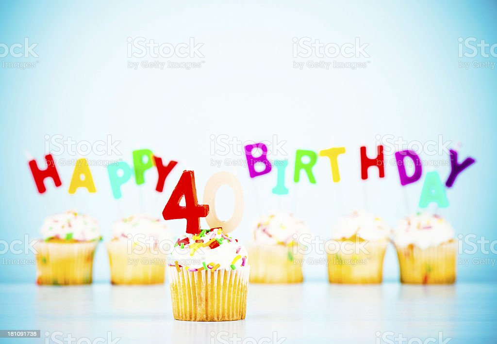 Happy 40th Birthday stock photo