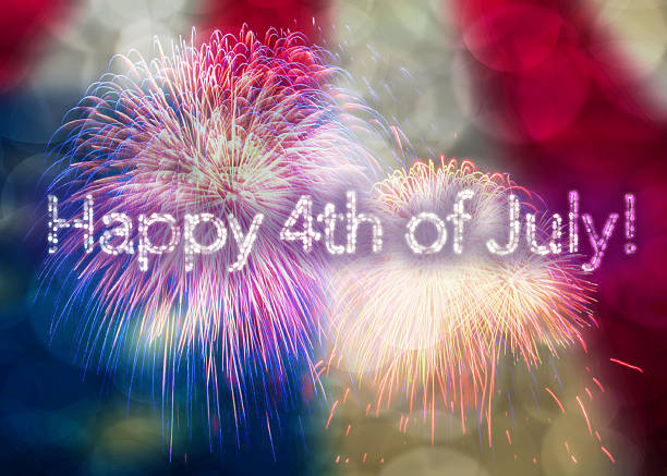 Happy 4th of July American Holiday stock photo