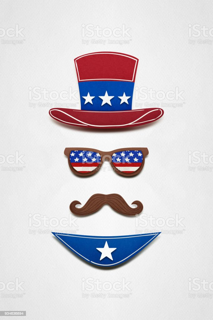 Happy 4th of July. stock photo