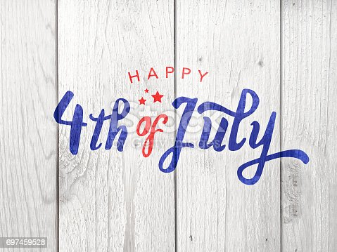 istock Happy 4th of July Typography 697459528