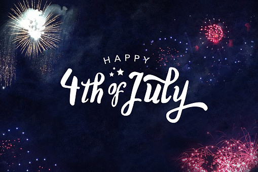 Happy 4th Of July Typography Stock Photo - Download Image Now
