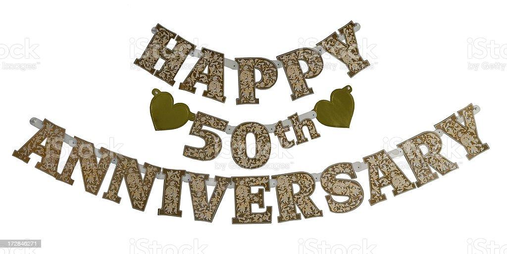 Happy 50th Anniversary Banner stock photo