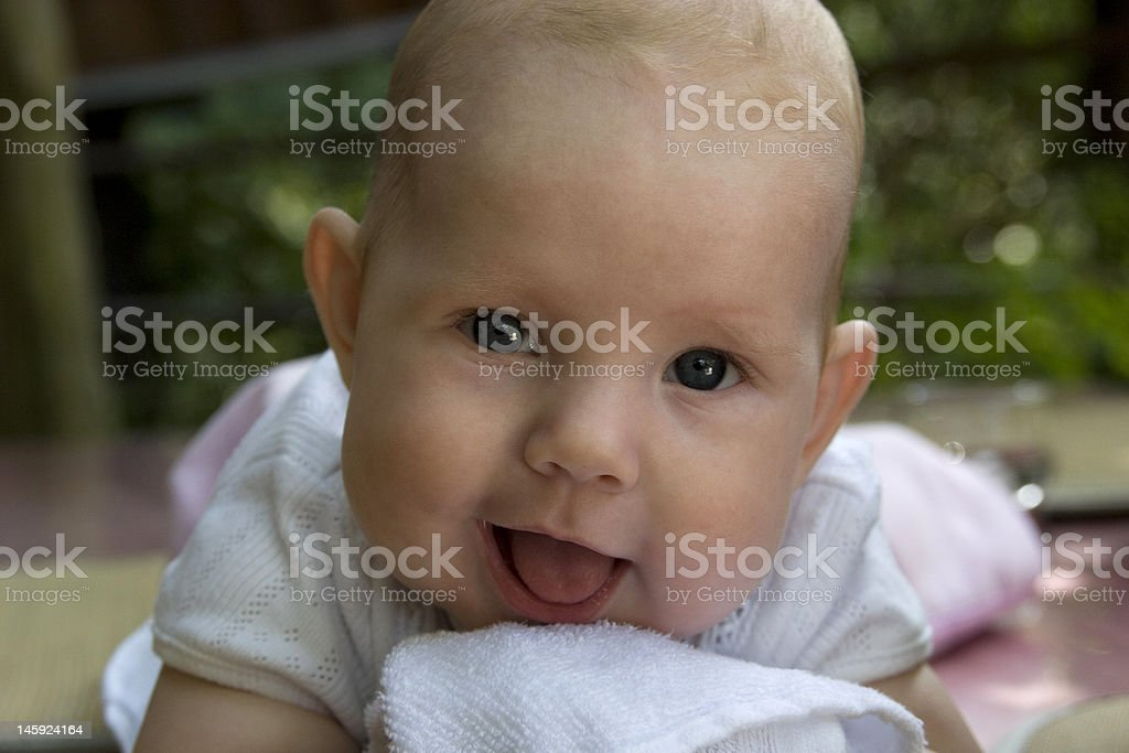 Happy 5month-old baby royalty-free stock photo